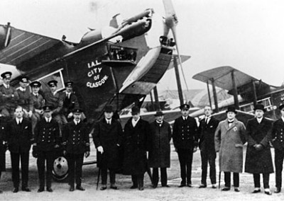 Some Instone Directors, pilots and staff in front of 'City of Glasgow'