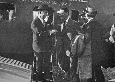 Charlie Chaplin boarding an early Instone Aircraft