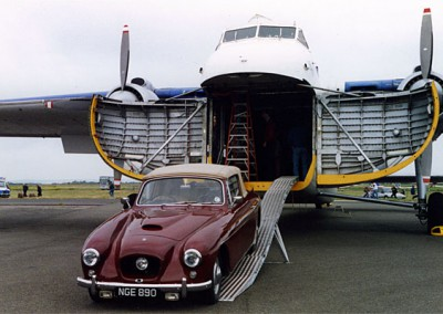 Bristol car being unloaded