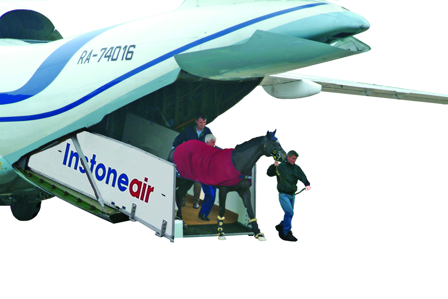 ATI ramp with horse at Stansted